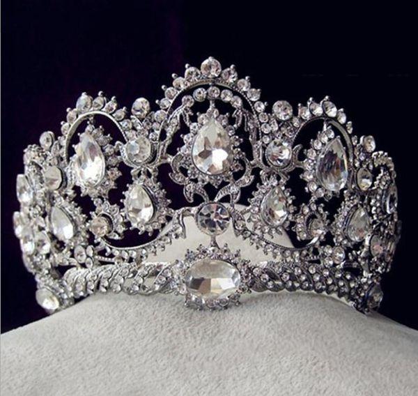 Water drill wedding brides crown 2018 new brides crown round head ornaments