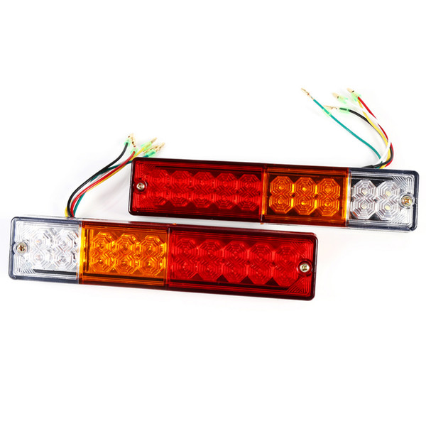 2pcs LED Stop Rear Rear Brake Reverse Light Girare Indiactor 12V / 24V ATV Truck Trailer Lamp