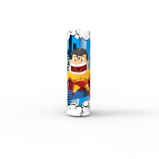 Newest Superhero Hulk Batman Superman Flash 18650 20700 21700 Battery PVC Skin Sticker Vaper Wrapper Cover Sleeve Heat Shrink Wrap Vape DHL