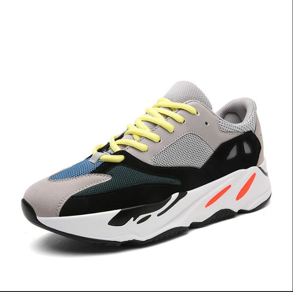 new style 1b14c 25f77 2018 New Kanye West Wave Mens Women Athletic Best Quality 700s Sports  Running Sneakers Shoes 39 44 With Box 86 Suede Shoes Shoe Sale From ...