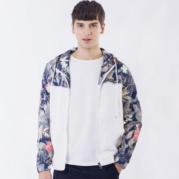 Spring Mens Jackets Men Windbreakers Hip Hop Outdoor Sport Bomber Jacket Streetwear Thin Windbreaker Black White Plus Size M-4XL