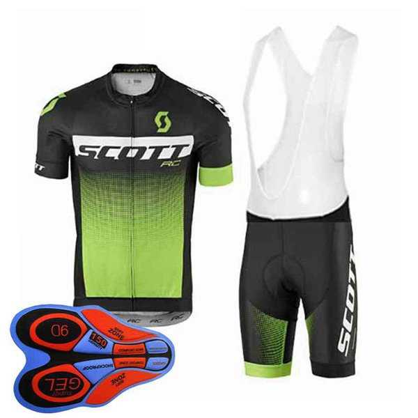 Scott team Cycling Short Sleeves jersey (bib) shorts sets Top quality men MTB bike sports bike clothes ropa ciclismo 92829J
