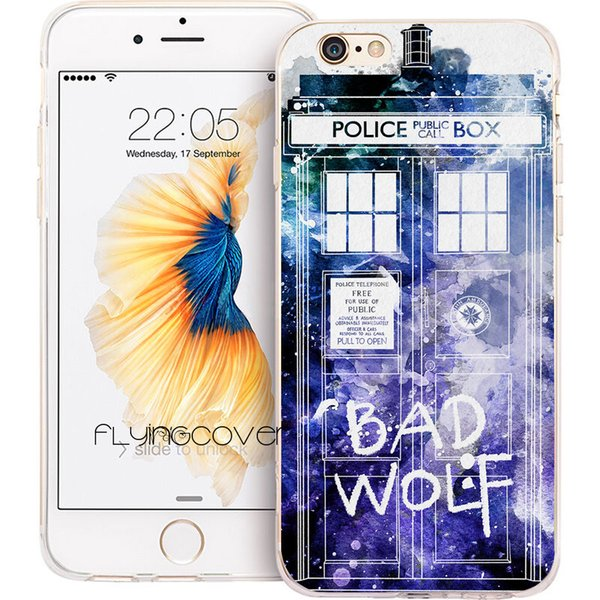 Bad Wolf Doctor Who Clear Soft TPU Silicone Phone Cover for iPhone X 7 8 Plus 5S 5 SE 6 6S Plus 5C 4S 4 iPod Touch 6 5 Cases.