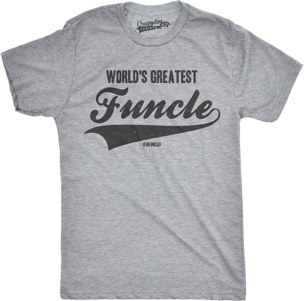 Details zu Mens Worlds Greatest Funcle Funny Fun Uncle Family Relationship T shirt Casual Funny free shipping Unisex tee gift