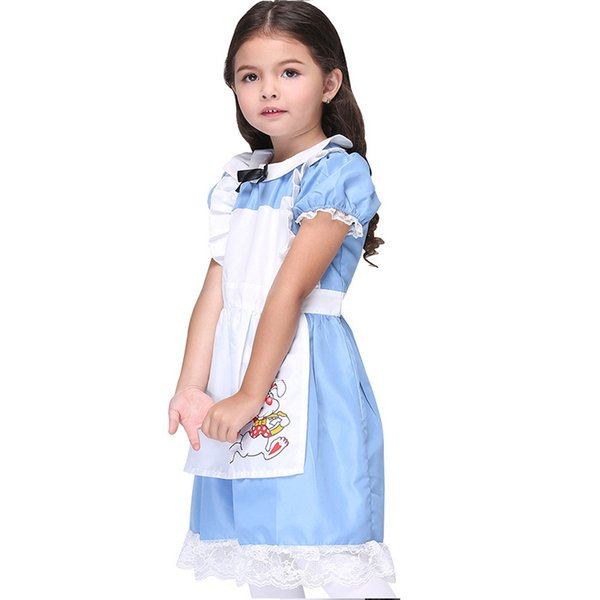Halloween Maid Costumes Children Girl Alice Costume Suit Maids Lolita Fancy Dress Cosplay Suits for Girls W680027