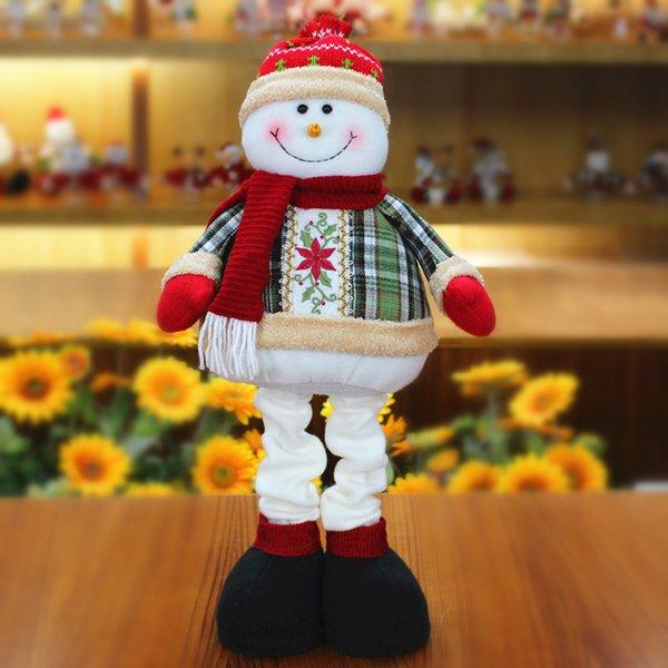 Kardan Adam Noel Süslemeleri Ev Masa Çocuklar Için Noel Figürleri Hediyeler Noel Dekorasyon Doll El Sanatları 2 ADET enfeites natal