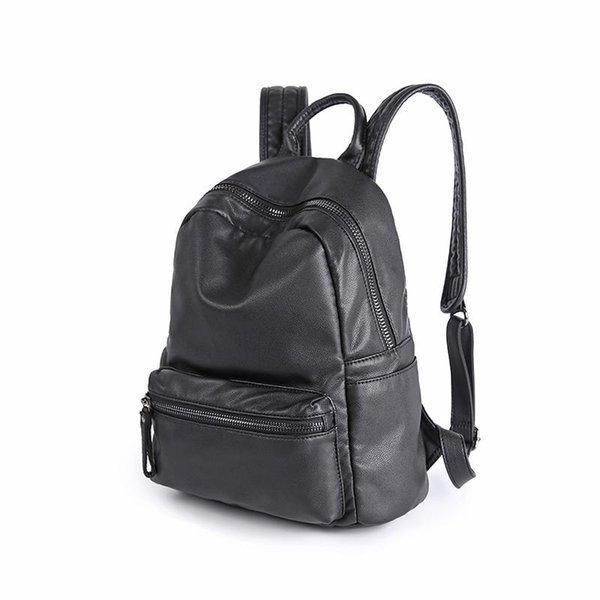 Wholesale- 2017 new women's backpacks school bags for teenagers girls fashion brand designer ladies high quality leather travel backpack