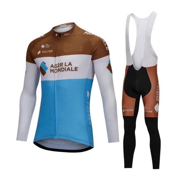2018 Горячие продать Велоспорт Джерси с длинным рукавом и велоспорт нагрудник брюки Велоспорт комплекты ремень Ciclismo bicicletas горный велосипед спортивная одежда B18091301
