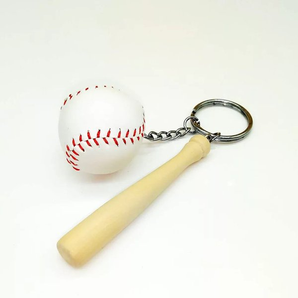 12pc Simulation Baseball Key Chain Party Gift Keychain Wedding Sport Festivel Celebration Party Souvenirs Baby Shower for guest
