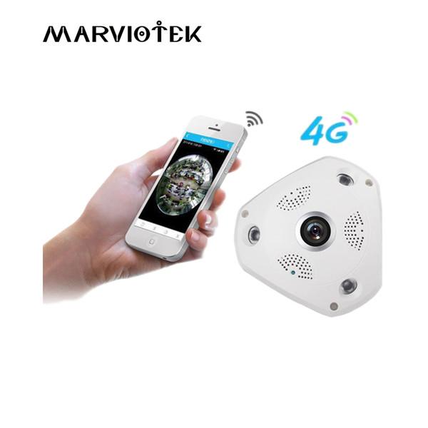 3G / 4G LTE sans fil caméra IP carte sim 3MP alarme caméra surveillance vr 360 degrés ip ptz véhicule 960P avec fente pour carte SD