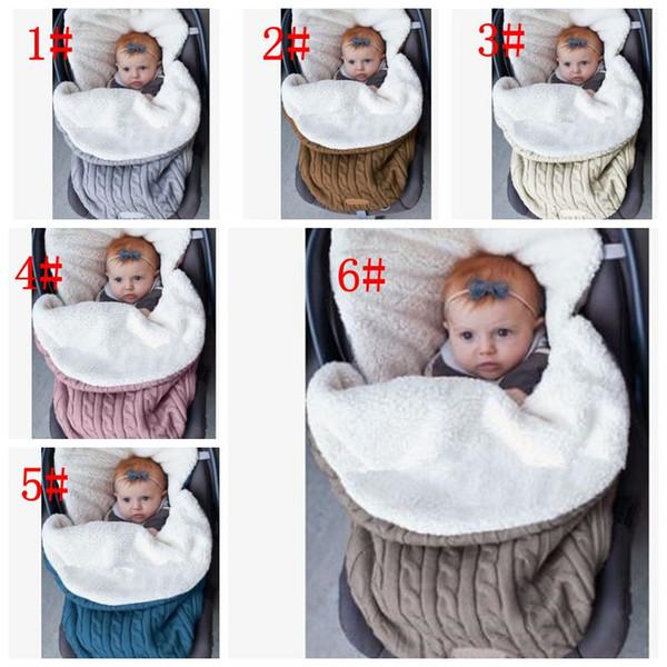 6 color Baby Swaddle Wrap Knit Envelope Newborn Sleeping Bag Baby Warm Swaddling Blanket Infant Stroller Sleep Sack KKA5693