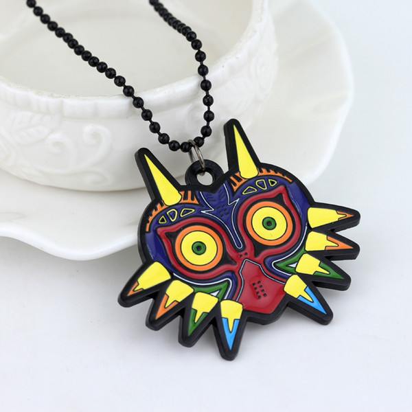 New arrive The Legend of Zelda Necklace Colorful Majoras Mask pin Necklaces & Pendant Jewelry Accessories Gift for Women Mens-30