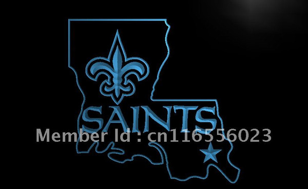 la138- new orleans saints bar pub beer led neon light sign home decor shop crafts