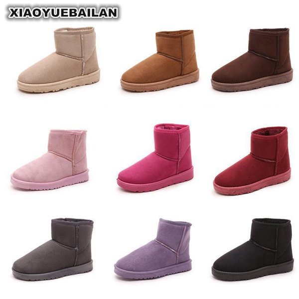 2018 New Short Snow Boots Flat Bottomed Thick Warm Slippery Students Cotton Slipper Shoes Woman10.24