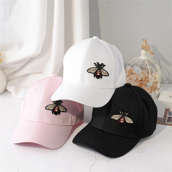 3 цвета Bee вышивка бейсболка хип-хоп бейсболка регулируемые шляпы для мужчин и женщин Snap back Рыбалка спорт на открытом воздухе мультфильм Cap