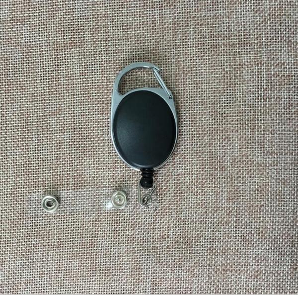 Retractable Pull Key Ring Kettenrolle ID Lanyard Namenskarte Badge Holder Namensschild Karte Gürtelclip Schlüsselanhänger Halter Clips KKA4313
