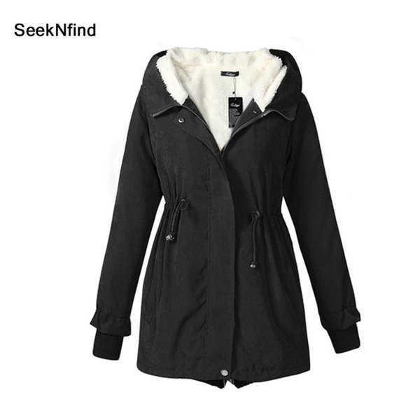 Winter Jacket Cotton Coat Womens Casual Solid With Cap Covered Button Zippers Pocket Full Regular Jacket Cotton Coat Parkas