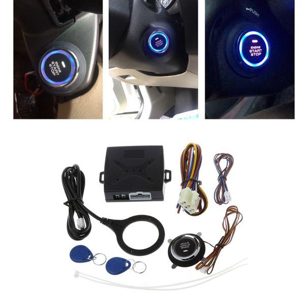 Car Kit Alarmanlage Auto Motor Drücken Sie Start-Taste RFID-Lock Keyless Entry Start Stop Zündung Starter Auto Security