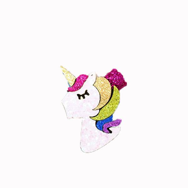 Baby sequin girls hairchip European and American children's hair accessories unicorn barrettes hair clip mini headwear