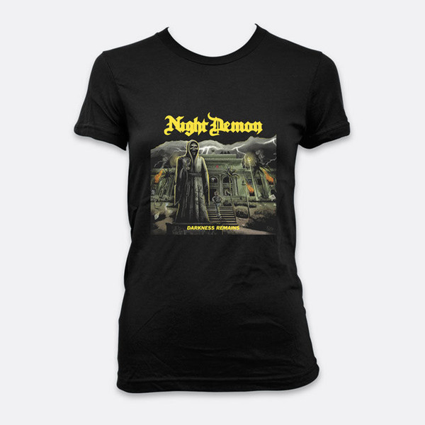 Night Demon Metal Darkness Remains Lady T-shirt S-2XL Color Black Women's Tees