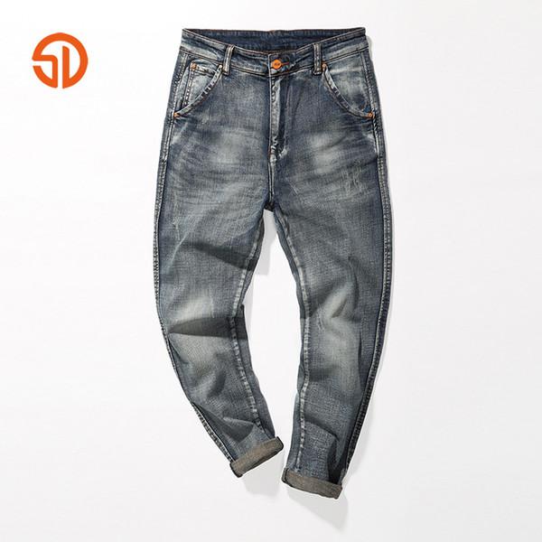 Casual Hommes Mode Denim Pantalon Bleu Couleur Zipper Harem Jeans Pantalons Hommes Poches Slim Longs Pantalons Homme Porter Vêtements De Marque