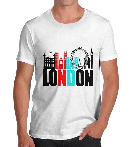 Men's London Famous Land Marks Printed T-Shirt