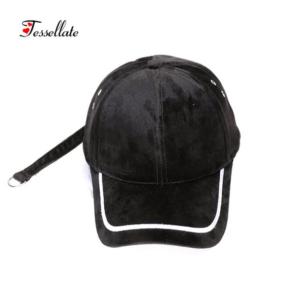 Tessellate Casual Punk Mesh hat skull style hip hop cap Unisex Faux Leather baseball cap sun hat street dance T-033