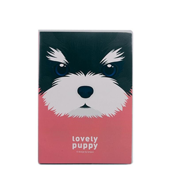 A5 Plastic Cover Notebooks Lovely Puppy School Book Diary Drawing Cute Design Cuaderno 206*142mm, 80 sheets/ 160 pages