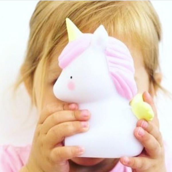 Cartoon Einhorn Dinosaurier LED Lampe Party Mini Nachtlicht Baby Room Decor Kinder Neuheit Spielzeug