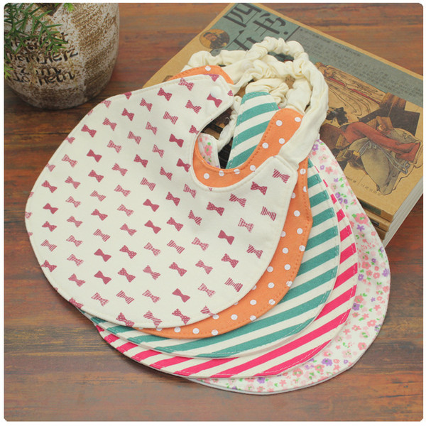 4 layers waterproof cotton Burp Cloths baby Bib slobber bib four waterproof round edge printing saliva towel B1032