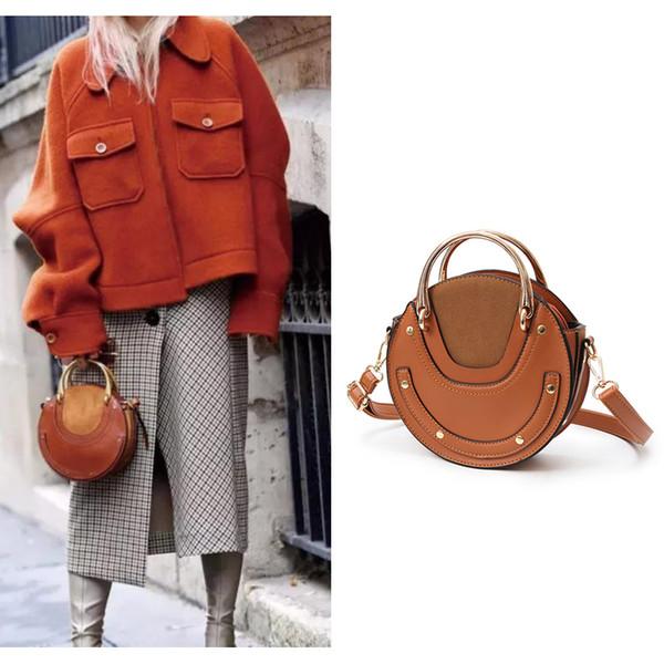 AUTEUIL PARIS 2017 Neue Ankunft Frauen Lederhandtasche Leder Rundschultertasche Damen Pixie Bag Berühmte Marke Geldbörse EH025