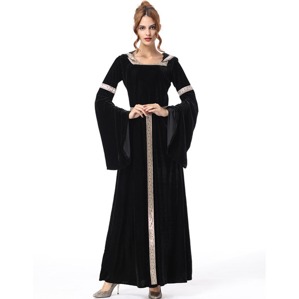 Scary long princess dress women witch costumes for women halloween costumes for adult sexy carnival womens