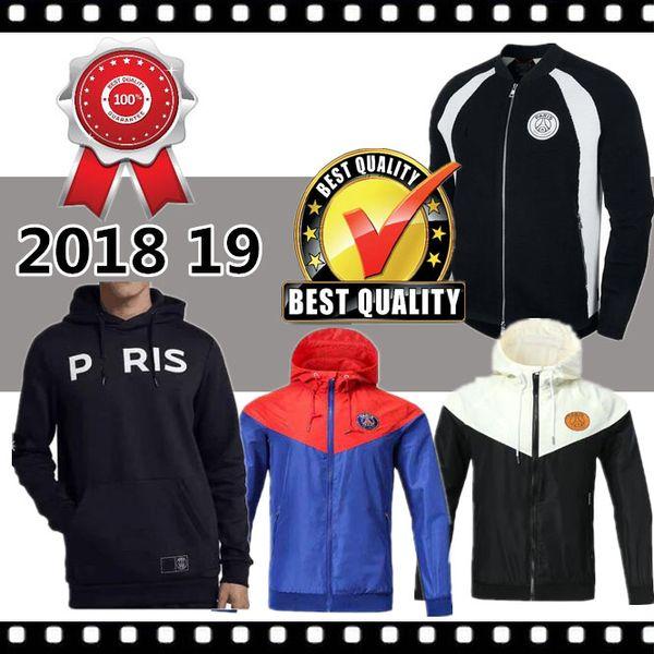 2018/19 en iyi Paris Jordam Şampiyonlar Ligi Kapüşonlu futbol ceket eşofman 18 19 PSG MBAPPE Futbol ceket eğitim Kazak maillot de