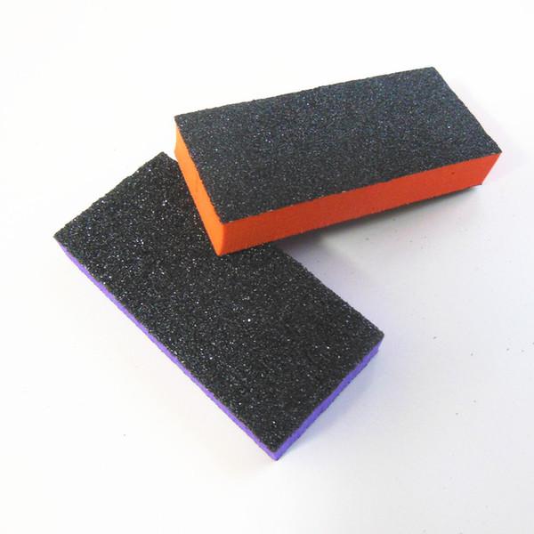 100 Pcs/Lot mini nail buffer block sponge buffer block nail sanding professional file pedicure tool