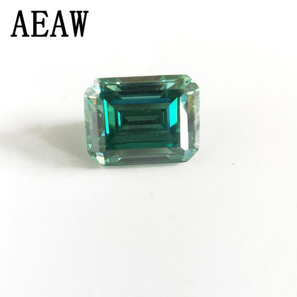 Emerald Baguette Cut Brilliant 4x6mm 0.8CT Moissanite verde Piedra suelta VVS Excelente prueba de grado de corte Positivo Lab Diamond