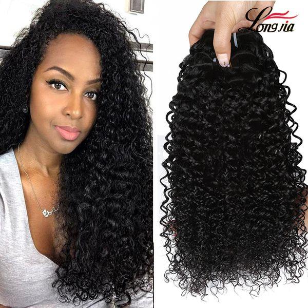 8a 원시 인도 곱슬 곱슬 머리카락 인간의 머리카락 확장 처리되지 않은 인도의 인간의 머리 곱슬 직물 도매 인도 버진 헤어 3/4 번들