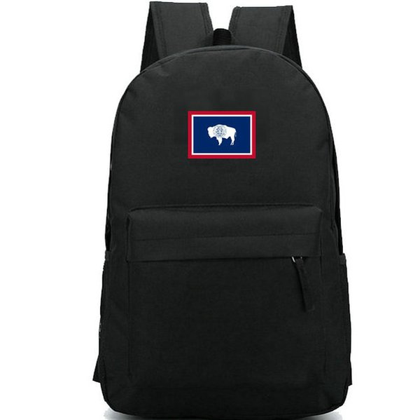 Wyoming backpack Yellowstone national park state flag school bag Banner daypack Good quality schoolbag Outdoor rucksack Sport day pack