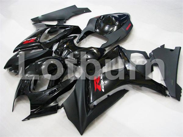 Kit de carenado Moto negro apto para Suzuki GSXR GSX-R 1000 GSXR1000 GSX-R1000 2007 2008 07 08 K7 Carenados Custom Bodywork Bodywork A334