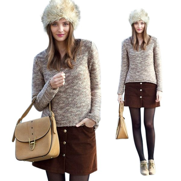 Women Long Faux Rabbit Fur Winter Snow Hat Full Fur Cap Warm Thick Russia Beret Beanies 2018 Fashion Ladies Winter Hats Warm Cap