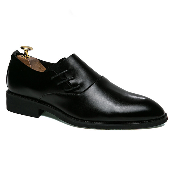 Leather Dress Shoes Men Slip on Male Casual Business Wedding Shoes Spring Summer Man Formal Luxury Sneakers