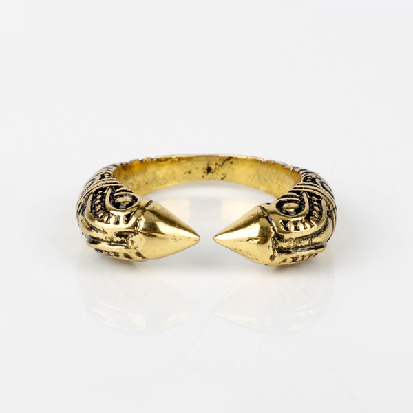 dongsheng Antique Viking Ring For Men Adjustable Dragon Rings Norse Vikings Mythology Jewelry -25