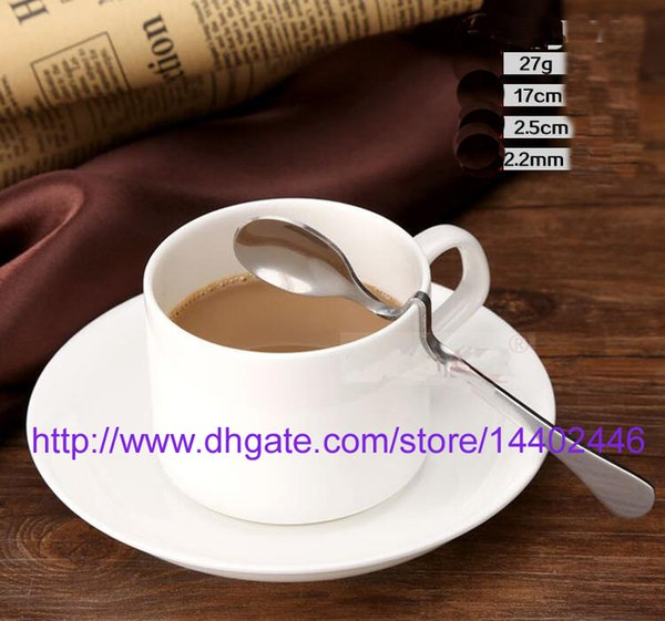 best selling 200pcs NEW Stainless steel Twisted handle Curved Tea Coffee Drink Condiment Spoon Teaspoon V handled Honey jam DHL Fedex Free