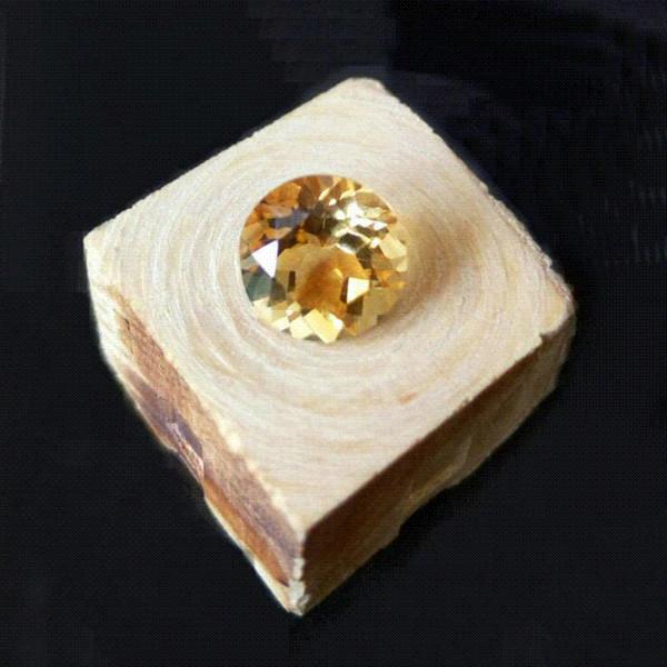 Precio al por mayor 100% natural citrino piedra preciosa suelta 8mm ronda brillante corte amarillo citrino piedra preciosa al por mayor