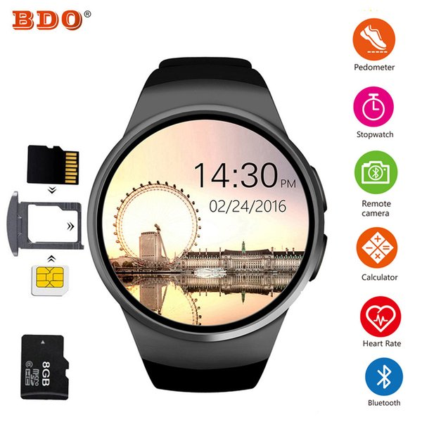 KW18 Bluetooth Smart Watch Full Screen Support SIM TF Card Smartwatch Phone Heart Rate Monitor for Apple Gear s2 huawei xiaomi