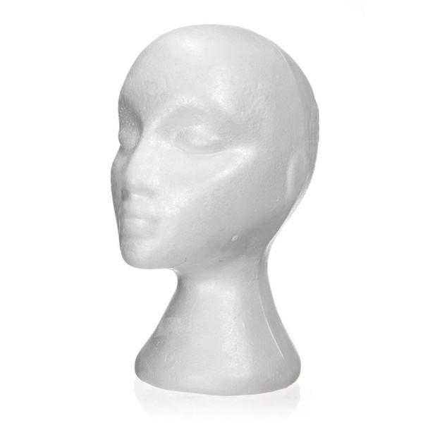 27.5 x 52cm Muñeco / cabeza de maniquí Expositor de espuma femenina (poliestireno) para gorro, accesorios para el cabello y pelucas Espuma para maniquíes