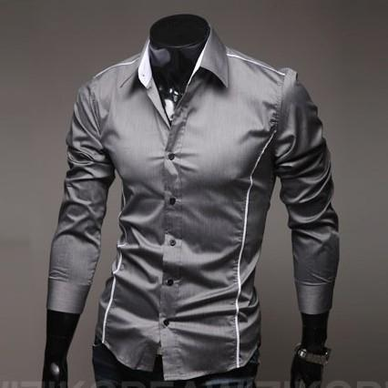Wholesale-Fast Shipping Brand New style Design Mens Shirts OEM high quality Casual Stylish Shirts men Size:M~4XL ( large size )