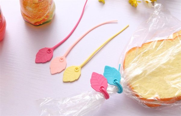 Household Plastic Silicone Bag Creative Clip Elastic Leaf Shaped Strapping Tape Safe Non Toxic Colorful Sealing Clips 0 16cj ff