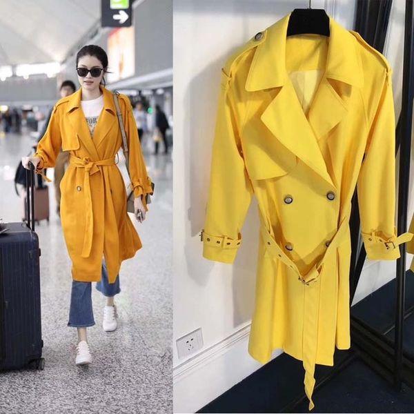 gabardina mujer amarillo