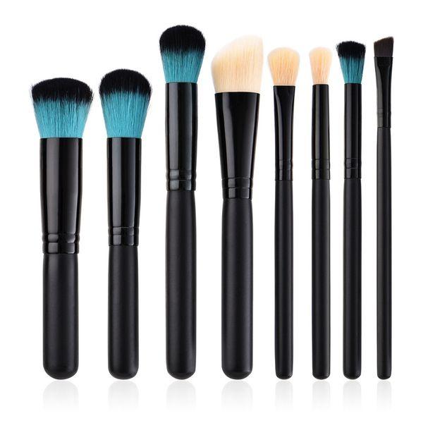 8 pçs / lote maquiagem pincéis cabelo sintético pincel de maquiagem kit essencial profissional kit de maquiagem escovas top quality T08054