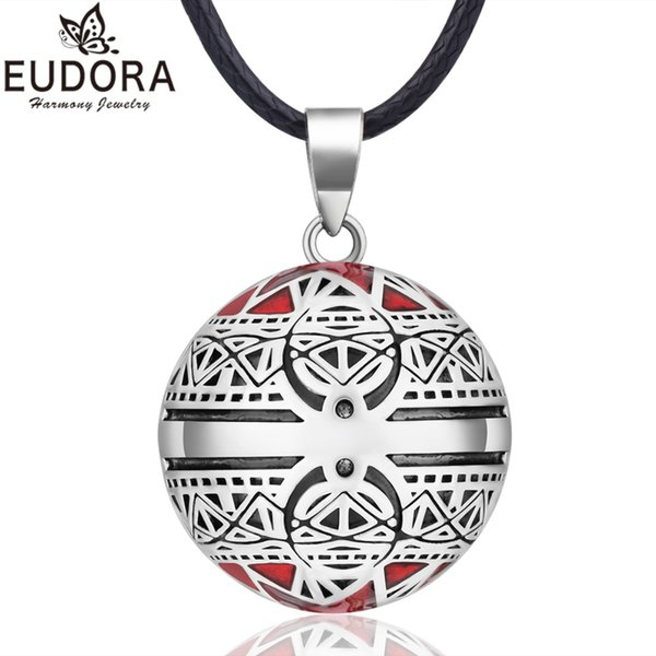 EUDORA Harmony Ball Necklace Vintage Chime Bola Pendant for Women Fashion Jewelry Gift Mexican Pregnancy Ball 45'' Chain